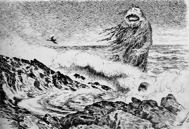 The Sea Troll by Theodor Kittelsen via Wiki Commons.